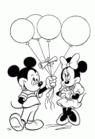 mickey mouse and minnie mouse coloring pages coloring page