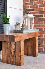 Easy Outdoor Wood Bench Plans by 4x4 Bench Woodworkin U0027 It Pinterest 4x4 Woodworking And Woods