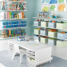 childrens desk and bookshelves white elfa playroom kids coloring table the container store