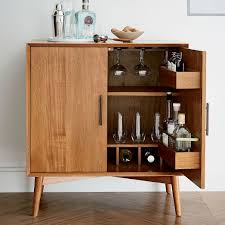 Small Bar Cabinet Furniture Mid Century Bar Cabinet Small West Elm