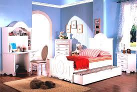 bedroom girls design idea with white bed frame red stripe sheet