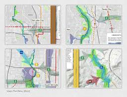 Ups Transit Map Blueprint Jordan River On Behance