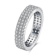 crystal pave rings images 3mm 5mm eternity rings for women white gold color micro pave cz jpg