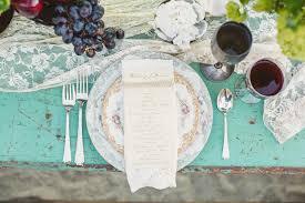 Wedding Table Setting Vintage Elegance Wedding Table Setting