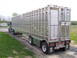 cattle trailer lighted sign alumaclear services tagged livestock trailers sr semi trailers