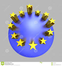 Blue Flag Stars In Circle European Union Golden Stars Blue Planet Stock Photo Image 45182070