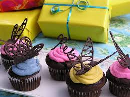 How To Make Decorative Chocolate How To Make Chocolate Butterfly Cupcake Decorations Diy Tutorial
