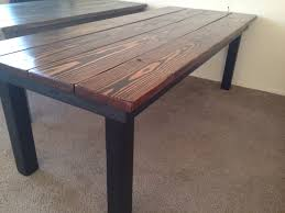 Dark Wooden Table Top This Reclaimed Wood Table Was Fun To Build Dark Walnut Stain