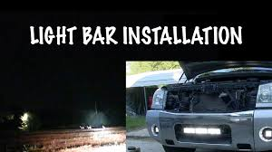 nissan armada 2017 grill light bar install how to install bumper mount light bar nissan