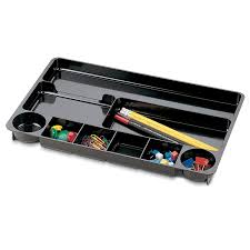 3m Desk Drawer Organizer Officemate 9 Compartment Drawer Tray Black 21302