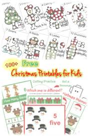 100 free christmas printable worksheets for kids