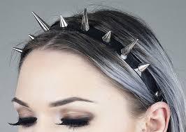 spiked headband spiked headband silver spiked headband headdress spikes