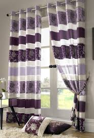 striped bedroom curtains bedroom purple striped and decorative grommet curtains silver