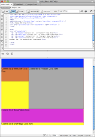 html layout header content footer untitled document