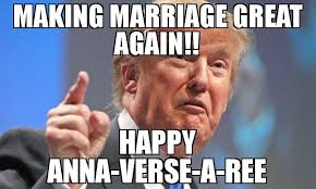 Happy Marriage Meme - making marriage great again happy anna verse a ree meme donald