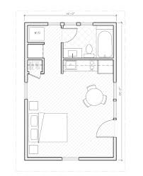 one room house floor plans