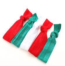 elastic hair bands christmas elastic hair ties 5 emi inspired fabric hair