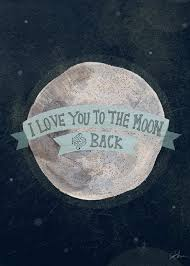 oopsy i you to the moon and back painting print on
