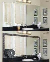 Framing A Bathroom Mirror Bathroom Mirror Frames 2 Easy To Install Sources A Diy