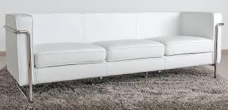 canapé 3 places blanc le bauhaus canapé 3 places blanc cuir première qualité