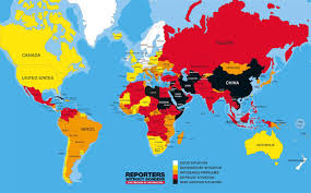 China World Map by Map Of World Press Freedom 2016 Nations Online Project