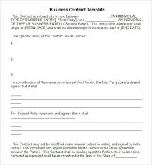 free download business contract template example with blank terms