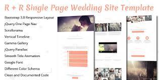 Wedding Site R R Wedding Landing Page Template By Theweblab Themeforest