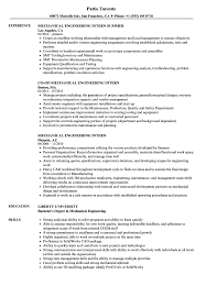 resume objective for engineering internships mechanical engineering intern resume sles velvet jobs