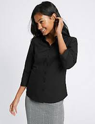 Black Blouses For Work Womens Work Shirts Smart Work Blouses For Ladies M U0026s Ie