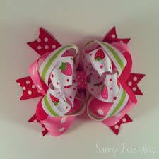 strawberry shortcake ribbon tuesday a strawberry bow