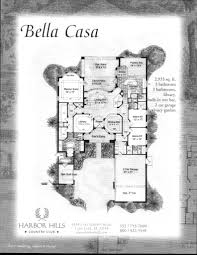 Casa Bella Floor Plan Harbor Hills Floor Plans