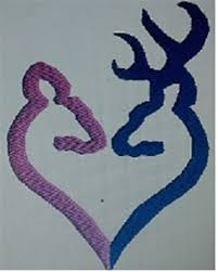 buck and doe heart buck and doe heart embroidery designs free machine embroidery