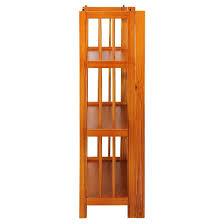 folding 3 tier bookshelf stackable honey oak target