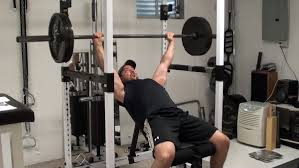 Bench Without A Spotter Chest Exercise Incline Barbell Bench Press Bottom Start
