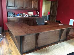 custom steel and walnut contemporary desk workstation by puddle