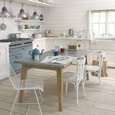 Love Zinc Covered Tables  Counter Tops Zinc Kitchen Table From - Kitchen with table