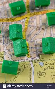 Monopoly Map Monopoly Houses On A Street Map Stock Photo Royalty Free Image