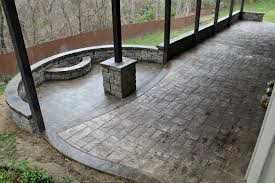 Stamped Patio Designs by Stamped Concrete Or Pavers Why Not Both