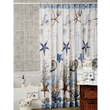 Seashell Fabric Shower Curtain Awesome Seashell Fabric Shower Curtain With Additional Bathroom
