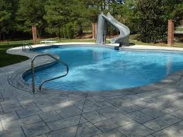 decor small inground poolsor yards with rock and mini backyards