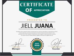 green english certificate template certificate template training