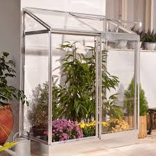Palram Lean To Greenhouse B U0026q 4x2 Polycarbonate Lean To Mini Greenhouse Departments Diy