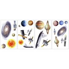 outer space travel sun planets wall decals stickers eonshoppee outer space travel sun planets wall decals stickers
