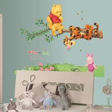 Nursery Stickers Winnie The Pooh Tigger Piglet Tree Wall Stickers Home Decor