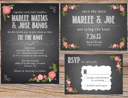 Spanish Wedding Invitation Wording Spanish Rose Chalkboard Wedding Invitation Suite Diy Printable