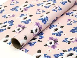 flower wrapping paper anemone flower wrapping paper pink