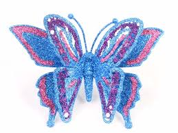 yiwu shaped plastic glitter butterfly