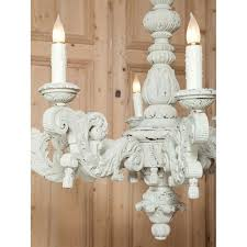 French Wooden Chandelier Grand Baroque French Carved And Painted Wood Chandelier Inessa