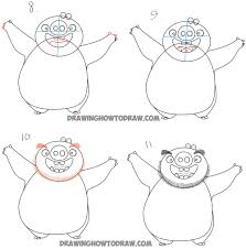 draw leonard green pig angry birds movie