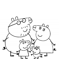 peppa pig coloring pages the pigs coloringstar